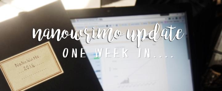 NaNoWriMo Update: one weekin…